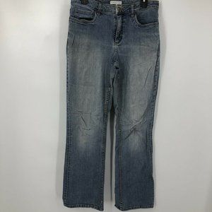 Coldwater Creek Size 10 Distressed Straight Jeans